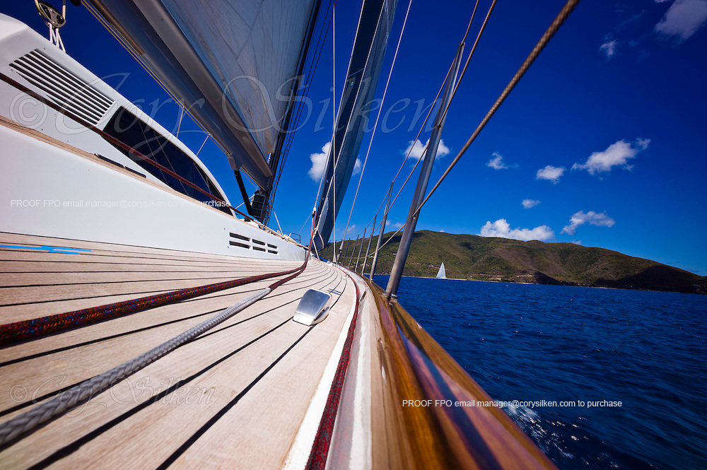 Onboard Sojana while sailing in the Caribbean Superyacht Regatta and Rendezvous, race 3.