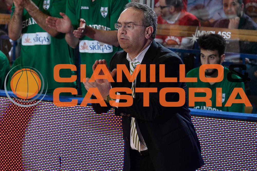 Reggio Emilia 20.05.2016<br /> Basket Serie A - Playoff Semifinali Gara 2<br /> Grissini Bon Reggio Emilia - Sidigas Avellino<br /> <br /> Nella foto: Stefano Sacripanti