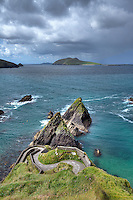 The Blasket Islands are a group of islands off the west coast of Ireland, forming part of County Kerry.<br /> They were inhabited until 1953 by a completely Irish-speaking population, when they were forcefully evacuated by the government to the mainland . Many of the descendants currently live in Springfield, Massachusetts, and some former residents still live on the Dingle Peninsula, within sight of their former home.
