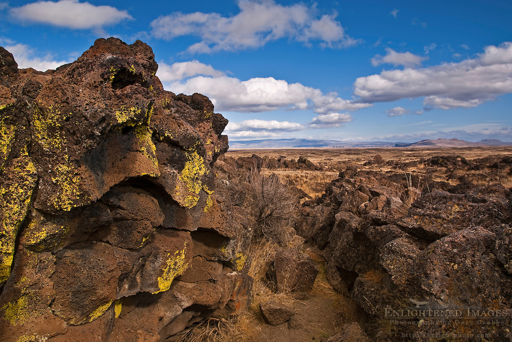 Rugged Lava field at Capatin Jacks Stronghold, Lava Beds National Monument, Siskiyou County, California