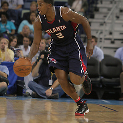 05 November 2008: Atlanta Hawks guard Joe Johnson (2) in action during the first half of a NBA game between the New Orleans Hornets and the Atlanta Hawks at the New Orleans Arena in New Orleans, LA..