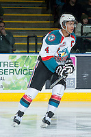 KELOWNA, CANADA -FEBRUARY 10: Madison Bowey #4 of the Kelowna Rockets skates against the Seattle Thunderbirds on February 10, 2014 at Prospera Place in Kelowna, British Columbia, Canada.   (Photo by Marissa Baecker/Getty Images)  *** Local Caption *** Madison Bowey;