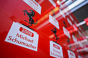 October 8, 2015: Russian GP 2015: Ferrari garage detail