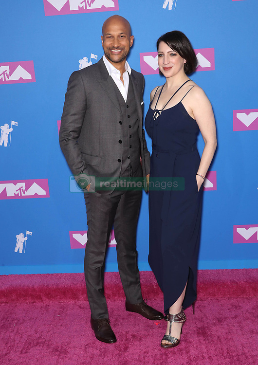 August 21, 2018 - New York City, New York, USA - 8/20/18.Keegan Michael Key and Elisa Pugliese at the 2018 MTV Video Music Awards held at Radio City Music Hall in New York City..(NYC) (Credit Image: © Starmax/Newscom via ZUMA Press)