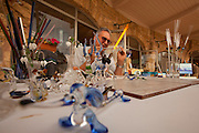 Glass artist displays his craftsmanship