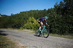 Tayler Wiles (USA) attacks at Tour Cycliste Féminin International de l'Ardèche 2018 - Stage 3, a 129.6km road race from St Sauveur de Montagut to Villeneuve de Berg, France on September 14, 2018. Photo by Sean Robinson/velofocus.com