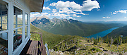 Bowman Lake, Numa Ridge Lookout, Glacier National Park, Montana, USA. (Panorama stitched from 8 overlapping images.)