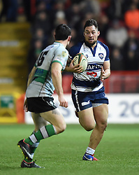 Bristol Rugby openside flanker Jack Lam in action during the Greene King IPA Championship match between Bristol Rugby and Nottingham at Ashton Gate on March 6, 2015 in Bristol, England - Photo mandatory by-line: Paul Knight/JMP - Mobile: 07966 386802 - 06/03/2015 - SPORT - Rugby - Bristol - Ashton Gate Stadium - Bristol Rugby v Nottingham - Greene King IPA Championship