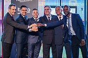 Josep Maria Bartomeu president of FC Barcelona, Eric Abidal and Jordi Mestre at the presentation of Arthur Melo from Brazil on July 11, 2018 at Camp Nou stadium in Barcelona, Spain - Photo Xavier Bonilla / Spain ProSportsImages / DPPI / ProSportsImages / DPPI