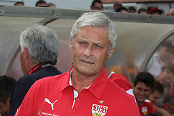 13.07.2014, Normannia Stadion, Stuttgart, GER, FS Vorbereitung, VfB Stuttgart vs Team Gmuend, im Bild Trainer Armin Veh ( VfB Stuttgart ) // during a Friendly Match between VfB Stuttgart and Team Gmuend at the Normannia Stadion in Stuttgart, Germany on 2014/07/13. EXPA Pictures © 2014, PhotoCredit: EXPA/ Eibner-Pressefoto/ Langer<br /> <br /> *****ATTENTION - OUT of GER*****