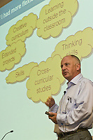 John Crookes, Qualifications & Curriculum Authority, speaking at the ASPECT conference.