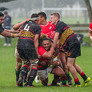 Action during the rugby union game played between MSP v Paremata-Plimmerton  played at Ngatitoa Domain, Mana, Wellington, New Zealand, on 11 May 2019.   Final score 63-7 to the MSP.