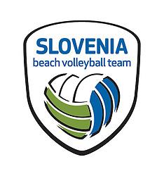 Logo of Slovenia Beach Volleyball team, update in june 2014 by Volleyball Federation of Slovenia.