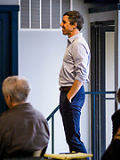 04 APRIL 2019 - CARROLL, IOWA: BETO O'ROURKE waits to speak at a meet and greet campaign event. Beto O'Rourke stopped at Kerps Tavern in Carroll, IA, to campaign for president Thursday. He is crisscrossing Iowa through the weekend with stops throughout the state. Iowa holds its caucuses, considered the kickoff of the US Presidential campaign, on Feb. 3, 2020.     PHOTO BY JACK KURTZ