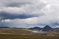 Kárahnjúkar, stíflan og virkjanasvæðið.