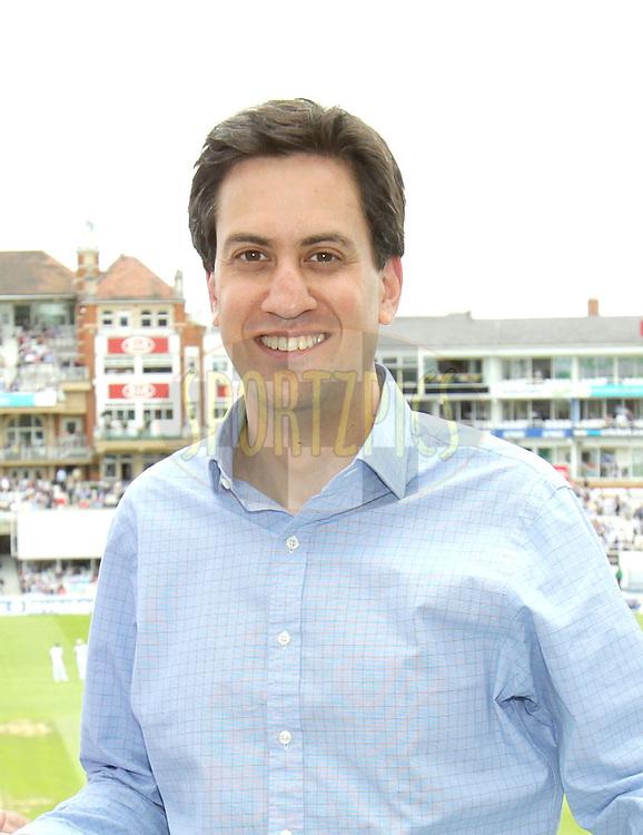 © Andrew Fosker / Seconds Left Images 2012 - Labour Leader Ed Miliband  at - England v South Africa - 1st Investec Test Match -  Day 3 - The Oval  - London - 21/07/2012