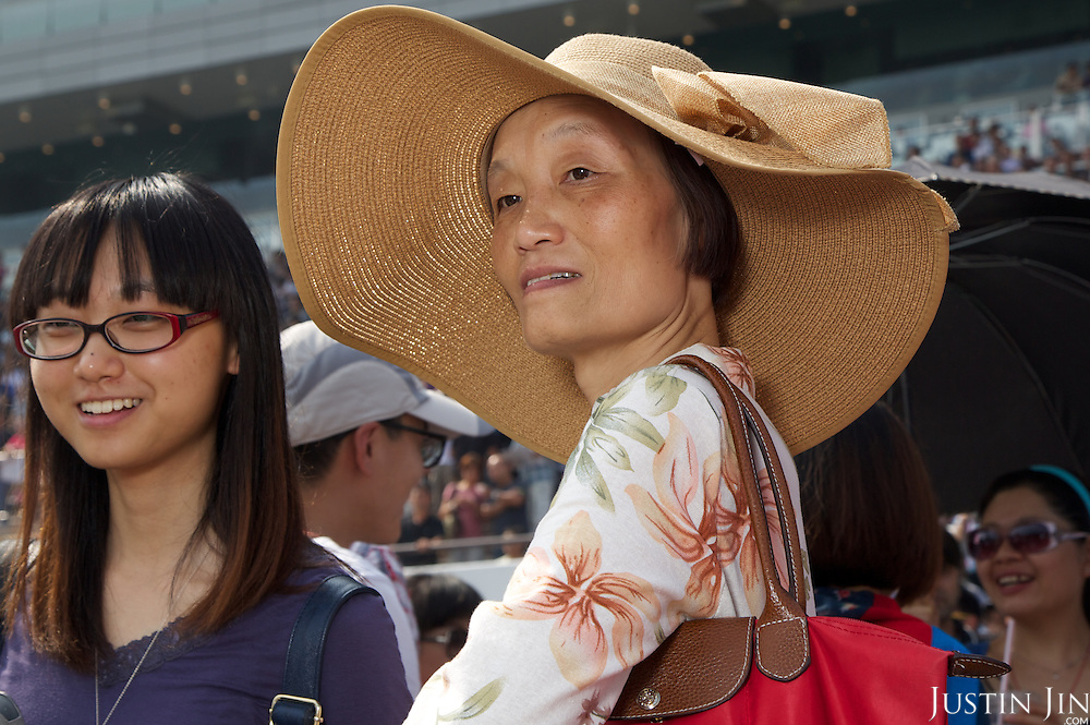 Mainland Chinese punters at the Hong Kong Jockey Club's Shatin Racecourse.