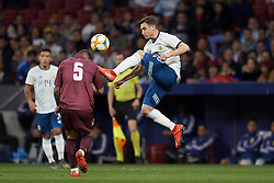 March 22, 2019 - Madrid, Madrid, Spain - Nicolas Tagliafico (Ajax) of Argentina and Junior Moreno (DC. United) of Venezuela competes for the ball during the international friendly match between Argentina and Venezuela at Wanda Metropolitano Stadium in Madrid, Spain on March 22 2019. (Credit Image: © Jose Breton/NurPhoto via ZUMA Press)