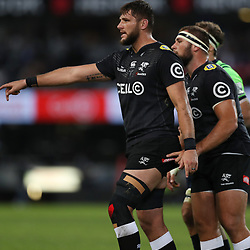 DURBAN, SOUTH AFRICA - MAY 05: Ruan Botha of the Cell C Sharks during the Super Rugby match between Cell C Sharks and Highlanders at Jonsson Kings Park Stadium on May 05, 2018 in Durban, South Africa. (Photo by Steve Haag/Gallo Images)