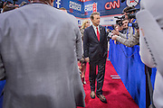 Presidential hopeful Rand Paul (R-Ky) in the spin room after the CNN Republican Presidential Debate at the Venetian Hotel and Casino in Las Vegas.