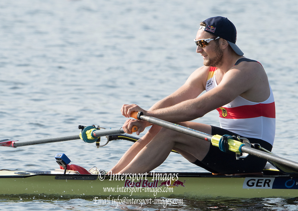 Rotterdam. Netherlands.   Gold Medalist GER BM1X. Tim Ole  NASKE, 2016 JWRC, U23 and Non Olympic Regatta. {WRCH2016}  at the Willem-Alexander Baan.   Friday  26/08/2016 <br /> <br /> [Mandatory Credit; Peter SPURRIER/Intersport Images]