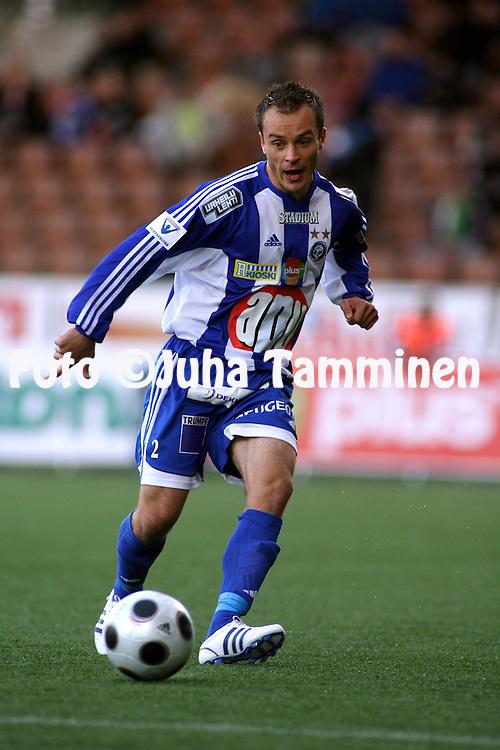 25.09.2008, Finnair Stadium, Helsinki, Finland..Veikkausliiga 2008 - Finnish League 2008.HJK Helsinki - FF Jaro.Tuomas Kansikas - HJK.©Juha Tamminen.....ARK:k