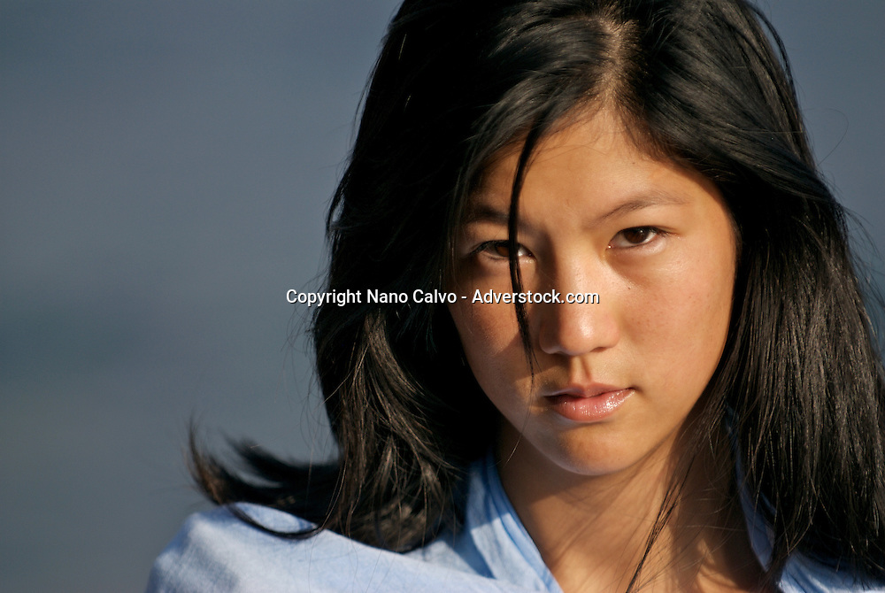 MR Portrait of a cute young asian woman