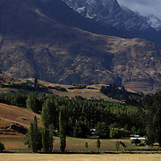 A competitor in action during the Dressage event with the stunning backdrop of The Remarkables Mountain Range at the Wakatipu One Day Horse Trials,  Queenstown, Otago, New Zealand. 15th January 2012. Photo Tim Clayton