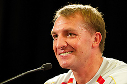 MELBOURNE, AUSTRALIA - Monday, July 22, 2013: Liverpool's manager Brendan Rodgers during a press conference at the Grant Hyatt Hotel ahead of their preseason friendly against Melbourne Victory. (Pic by David Rawcliffe/Propaganda)