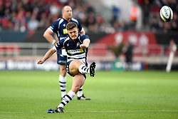Bristol Rugby Fly-Half Callum Sheedy kicks a penalty - Mandatory byline: Joe Meredith/JMP - 25/05/2016 - RUGBY UNION - Ashton Gate Stadium - Bristol, England - Bristol Rugby v Doncaster Knights - Greene King IPA Championship Play Off FINAL 2nd Leg.