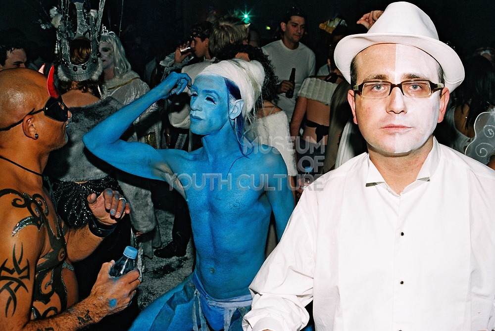 People covered in body paint dance at Return to Narnia, Pushca, New Years Eve, 2004