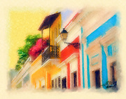 Sol street colonial facades painting
