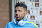 Manchester City striker Sergio Aguero during the Premier League match between Burnley and Manchester City at Turf Moor, Burnley, England on 26 November 2016. Photo by Pete Burns.