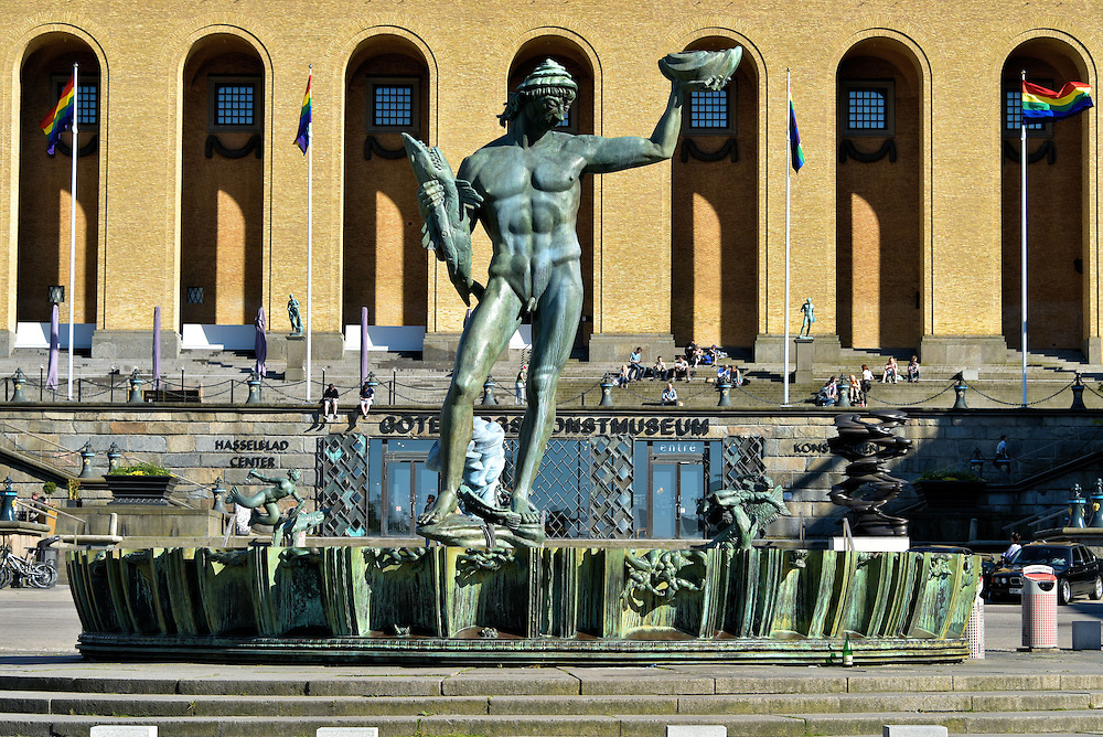 Poseidon Statue by Carl Milles in Gothenburg, Sweden <br />