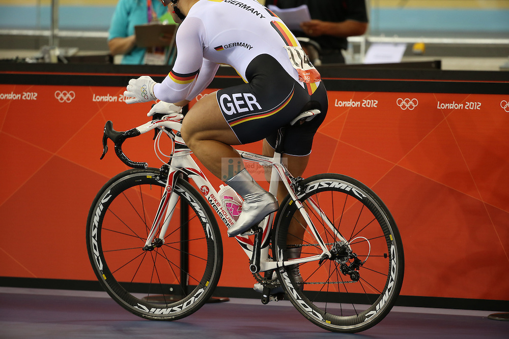 during the men's cycling sprint finals during day 6 of the London Olympic Games London, 2 Aug 2012..(Jed Jacobsohn/for The New York Times)....