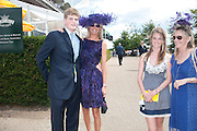HUBIE SANGSTER; MRS. GUY SANGSTER; ELLAMAY SANGSTER;,; MRS. JAMES ALUN-JONES;  Glorious Goodwood. Sussex. 28 July 2010, -DO NOT ARCHIVE-© Copyright Photograph by Dafydd Jones. 248 Clapham Rd. London SW9 0PZ. Tel 0207 820 0771. www.dafjones.com.