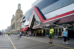 Atlantic City Boardwalk with a view on Trump Plaza and the Boardwalk Hall. (Bas Slabbers/for NewsWorks)