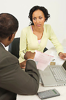 Accountant Talking with Client
