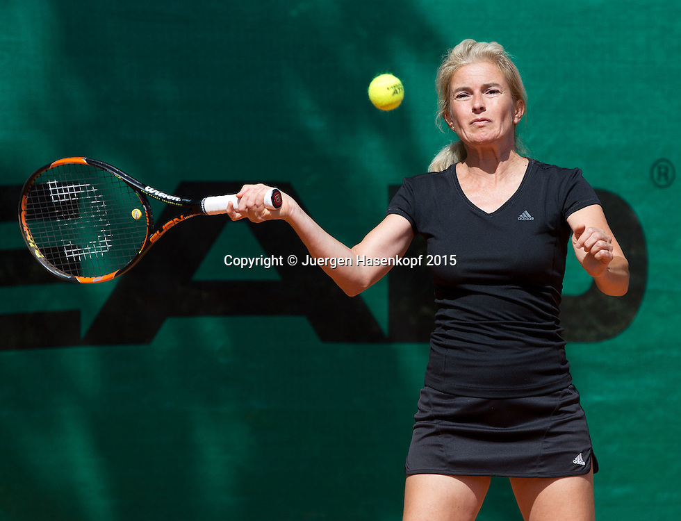 Munich Senior Open 2015 WS45, Singles ,Petra Kurz<br /> <br /> Tennis - Munich Senior Open - ITF Senioren Turnier -  Tennis Kooperation Muenchen-Johanniskirchen - Muenchen - Bayern - Germany  - 31 July 2015. <br /> &copy; Juergen Hasenkopf