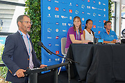 January 07, 2017: China's top ranked player Zhang Shuai (3L) was on hand to conduct the draw ceremony for the Apia International Sydney 2017 at Sydney Olympic Park Tennis Centre. (Photo by Hugh Peterswald/Icon Sportswire)