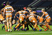 Edinburgh drive over the line for the final try of the Guinness Pro 14 2018_19 match between Edinburgh Rugby and Toyota Cheetahs at BT Murrayfield Stadium, Edinburgh, Scotland on 5 October 2018.