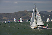 21 July 2007: View of sailboats on the water during a clear day in the San Francisco bay, CA.