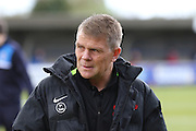 Andy Hessenthaler coach of Leyton Orient during the Sky Bet League 2 match between AFC Wimbledon and Leyton Orient at the Cherry Red Records Stadium, Kingston, England on 23 April 2016. Photo by Stuart Butcher.