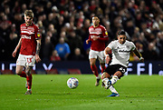 Anthony Knockaert (24) of Fulham on the attack during the EFL Sky Bet Championship match between Fulham and Middlesbrough at Craven Cottage, London, England on 17 January 2020.