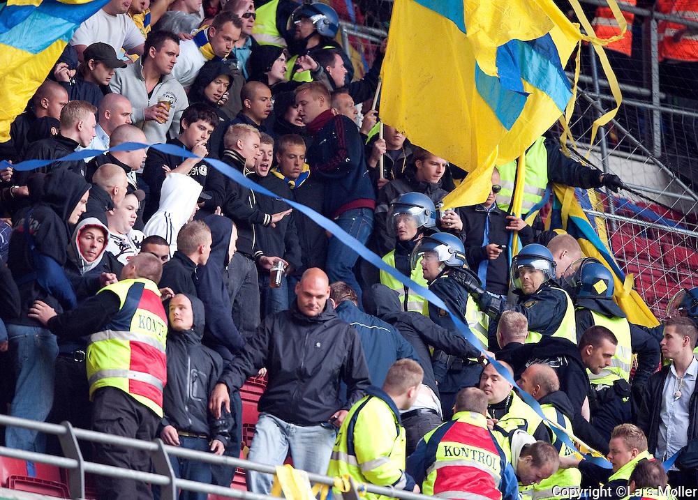 DK Caption:<br /> 20090517, K&oslash;benhavn, Danmark:<br /> SAS Liga fodbold FC K&oslash;benhavn - Br&oslash;ndby:<br /> Br&oslash;ndby fans <br /> Foto: Lars M&oslash;ller<br /> UK Caption:<br /> 20090517, Copenhagen, Denmark:<br /> SAS Liga football FC Copenhagen - Brondby:<br /> Br&oslash;ndby fans <br /> Photo: Lars Moeller