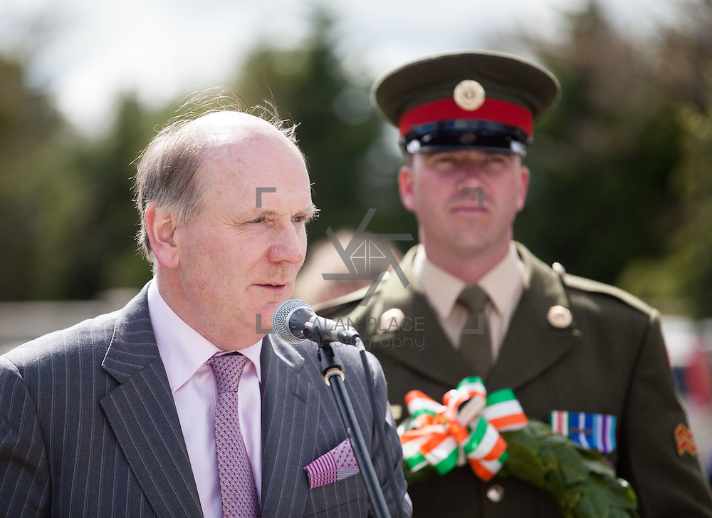 25.04.2016. <br /> Limerick marked the 100th anniversary of the Easter Rising on  Sunday and Monday with a wreath laying ceremony at the main 1916 Commemoration Monument on Sarsfield Bridge in Limerick City, and the official opening of four 1916 Memorial Gardens in Limerick City, Rathkeale, Kilmallock and Newcastle West. <br /> <br /> Pictured at the Memorial Gardens at the Local Area Offices Rathkeale was Damien Brady, 2016 Co-Ordinator. Picture: Alan Place