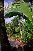 Kayaks, Hana Coast, Maui, Hawaii<br />