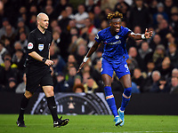 Football - 2019 / 2020 Premier League - Tottenham Hotspur vs. Chelsea<br /> <br /> Chelsea's Tammy Abraham appeals to Referee Anthony Taylor after Tottenham Hotspur's Paulo Gazzaniga fouls Chelsea's Marcos Alonso, at The Tottenham Hotspur Stadium.<br /> <br /> COLORSPORT/ASHLEY WESTERN