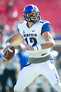 DALLAS, TX - OCTOBER 25:  Paxton Lynch #12 of the Memphis Tigers drops back to pass against the SMU Mustangs during the 1st quarter on October 25, 2014 at Gerald J. Ford Stadium in Dallas, Texas.  (Photo by Cooper Neill/Getty Images) *** Local Caption *** Paxton Lynch