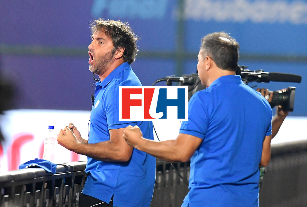Odisha Men's Hockey World League Final Bhubaneswar 2017<br /> Match id:14<br /> England v Argentina<br /> Foto: coach Carlos Retegui (Arg) <br /> COPYRIGHT WORLDSPORTPICS FRANK UIJLENBROEK